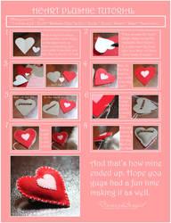 Plush Heart Pin Tutorial by damaskangel