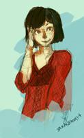 Quick girl Sketch by saxagenia