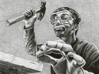 Professional Carpenter by egoodwinart