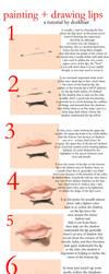 lip tutorial. by dorkbait