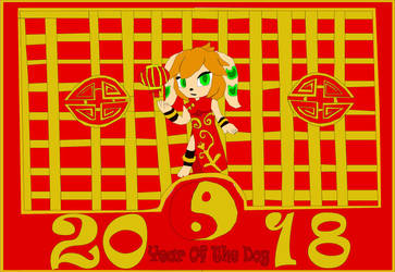 Year of the Dog (Milla from freedom-planet) by ofrankie12