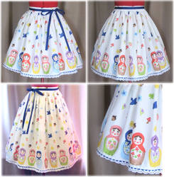 Sweet Matryoshka Skirt by sakurafairy