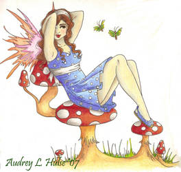 Polka-Dots and Flutter-Bys by Audriana