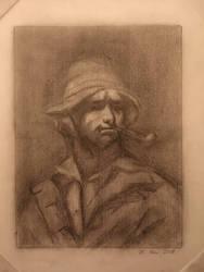 Study of Courbet's self potrait by Novembre17
