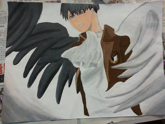 Wings of Freedom _ Rivaille Ackerman by selinacch98