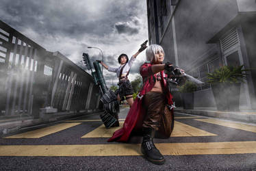 Devil May Cry 3_Dante with Lady by selinacch98