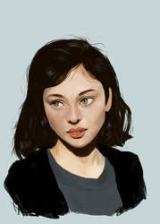 Portrait study by crystaleyes909