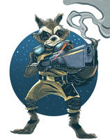 Guardians of the Galaxy - Rocket Raccoon by geogant