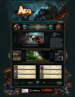 Webdesign for Team AEG - ESL - League of Legends by LoomarNet