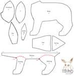 Free Eeveelution plush pattern by Tedimo