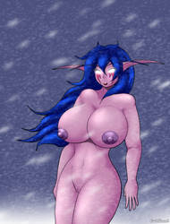 Its snowing and yet I feel a hot presence by ColdBrush