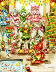 .:Fembot Christmas Fun:. by Gypsy-Rae