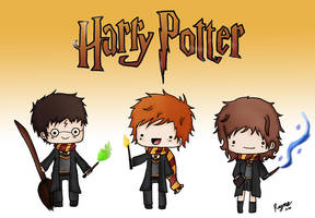 Harry Potter chibis by zigidity