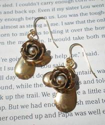 vintage flower earrings by meganhor