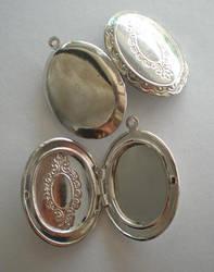 Silver Tone Lockets by meganhor