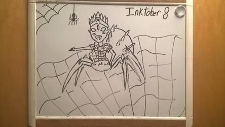 Inktober Day 8: itsy bitsy spider by PKBChaz