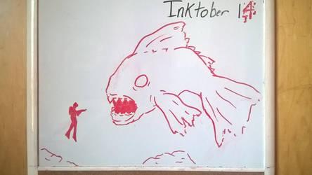 Inktober Day 14: The big one by PKBChaz