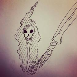 Inktober 3, Skeleton Key by PKBChaz