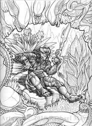 Predator: The Naturalist bw by rachaelm5