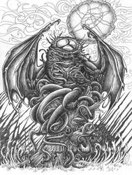 Haunter of the Dark bw by rachaelm5