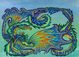 Summer Celebration dragon design by rachaelm5