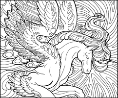 Starlight Pegasus lineart by rachaelm5
