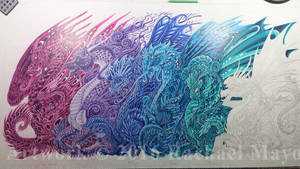 Dragons of the Twilight Dream WIP06A by rachaelm5