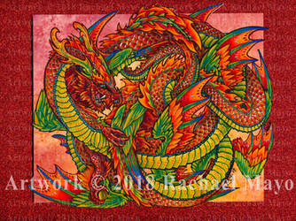 Dragon Dance 03 color by rachaelm5
