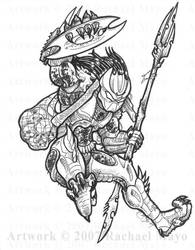 Predator: Into the Breach ink by rachaelm5