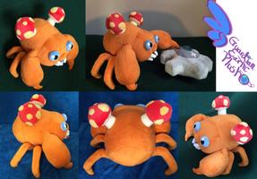Paras Pokemon Plush! Poseable! by GuardianEarthPlush