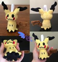 Pokemon Mimikyu Keychain Size! by GuardianEarthPlush