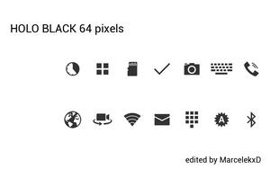 Holo Black 64 pixels by MarcelekxD