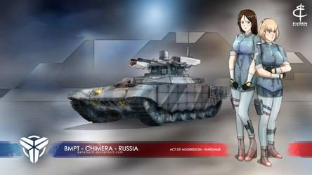 Chimera - BMPT Terminator - Girls und Panzer by KaneNash