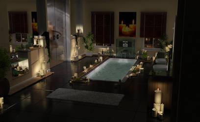 Night Bath.. by ozel34
