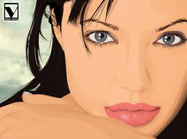 Angelina Jolie 2 by vinnyvieira