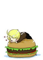 APH: Hamburger Hug by yunichan