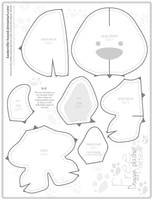 Free Doggie plushie Pattern by Baskerville-Hound