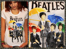 THE BEATLES T-shirt by dragon-flies
