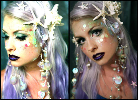 Mermaid Makeup Test for Etsy by TheRealLittleMermaid