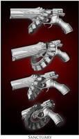 Sanctuary- 14 Chamber Revolver by malmida
