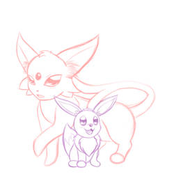 Eeveelution Sketch by Brayissimo