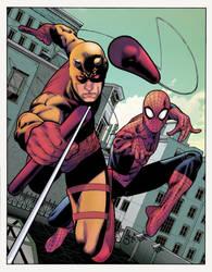 Daredevil + Spider-Man by Paulo Siqueira 21/06/18 by Col-Splash