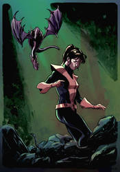 Kitty Pryde + Lockheed by Dave Stokes - 27/06/18 by Col-Splash