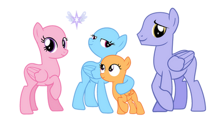 Base 19 Rainbow dash's family by VelveagicSentryYT