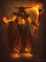 Fire Sorcerer by Jujusaurus