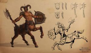 Chief Centaur Character Sheet by Jujusaurus