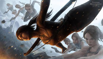 DIVE - Tomb Raider 20th Anniversary Fan Art by Jujusaurus