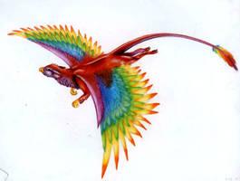 Rainbow Gryphon by icantthinkofaname-09