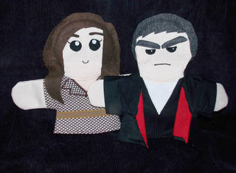 Twelfth Doctor and Clara Puppets by AbleSistersFanCrafts
