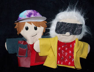 2015 Doc and Marty Puppets by AbleSistersFanCrafts